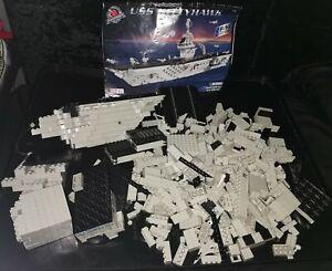 Rare MEGA BLOKS PRO-BUILDER 9780, USS Kitty Hawk, 2001. 8 * F-14 **SPARE PARTS**