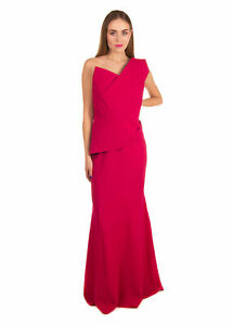 RRP €2765 ROLAND MOURET Wool Trumpet Gown Size 18 / 3XL LIMITED EDITION