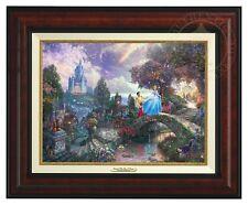 CINDERELLA - Disney - Thomas Kinkade Canvas Classic (Burl Frame)