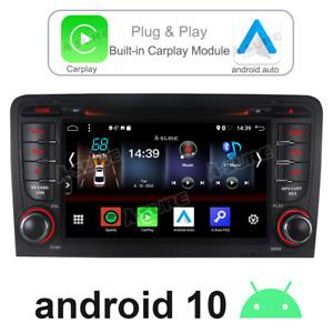 Carplay Android auto 10 Radio GPS DVD Stereo sat nav for Audi A3 S3 RS3 RNSE-PU