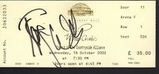 Roger Waters. Authentic autograph. Signed ticket 2002 Whip Craic concert. Extras