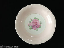 """Edwin KNOWLES KN0601 China Round Pink Band Rose Bud 6-5//8/"""" BREAD SALAD PLATE"""