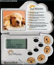 EXCALIBUR PET MASTER ORGANIZER ELECTRONIC HANDHELD FOOD RECORD PLANNER DOG PUPPY