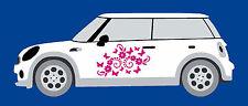Butterfly & Daisy Flower Car Door Stickers Super Mini, Clio, VW Beetle LS2001