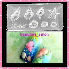 3D Acylic Nail Art Mold Conch Starfish Shape Pattern Manicure Decoration #66
