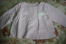 CHLOE PINK BOW COTTON BABY JACKET 6 MONTHS