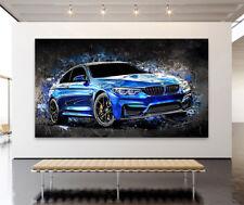 ACRYLGLAS BILD WANDBILD BMW M4 ABSTRAKT KUNSTDRUCKE XXL AUTO BILDER POSTER