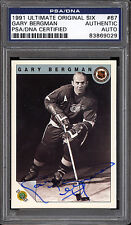 1991 ULTIMATE ORIGINAL SIX GARY BERGMAN PSA DNA AUTOGRAPH AUTO SIGNED RED WINGS
