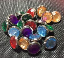 20 X Diamante De Imitación Efecto Brads. Colores Mezclados