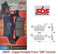 208HF - Coppia Pastiglie Freno Anteriori SBS Ceramic per Yamaha Xenter 150