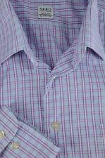 Sero by Forsyth Men's Blue & Purple Checker Cotton Dress Shirt 17 x 33