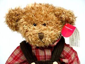 "Russ Teddy Bear Plush Fitzsimmons Brown Plaid Stuffed Animal Avon Collection 15"""