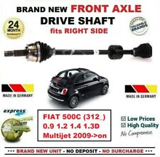 FOR FIAT 500C 0.9 1.2 1.4 1.3D Multijet 2009->on NEW FRONT AXLE RIGHT DRIVESHAFT