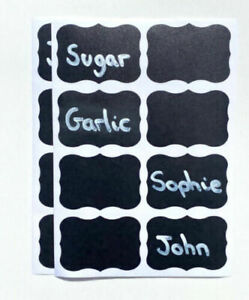 Jar Label Stickers Chalk x 40 Kitchen Jam Coffee Tea Spice Storage Decals