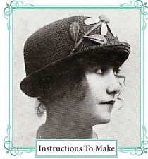 Vintage downton abbey era crochet pattern-how to make this 1915 flower hat
