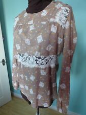Paul and Joe French designer top lace details size 12