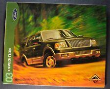 2003 Ford Expedition Truck Brochure XLT 4x4 Eddie Bauer Excellent Original 03