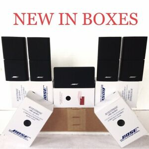 5 NEW Bose Acoustimass Lifestyle Double Cube Speaker Incl Center Direct Reflect