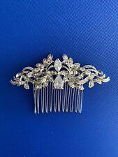 Wedding Bridal Rhinestone Hair Comb Vintage Wedding Crystal Diamante Headpiece