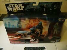 BOXED STAR WARS IMPERIAL SPEEDER + AT-DP PILOT ROGUE ONE REBELS FIGURE BIKE SET