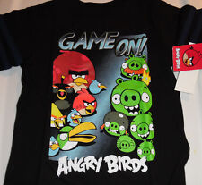 Angry Birds Cotton Short Sleeve T Tee Shirt Toddler Boys 3T Black Game On NWT