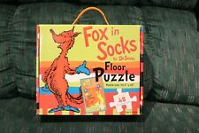 """Dr. Seuss """"Fox in Socks"""" Large Floor Puzzle NEW"""