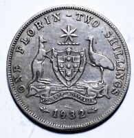 1932 Australia One 1 Florin - George V KEY DATE - Lot 735