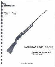 Ithaca Gun Model 300 900 Semi-Automatic Shotgun Takedown Instructions Manual