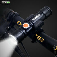 Waterproof Bicycle MTB Bike Torch Light Lamp USB Rechargeable Mount Holder 800LM