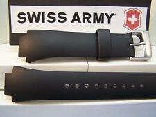 Swiss Army Watch Band Peak Black Rubber Mens w/pins 24952