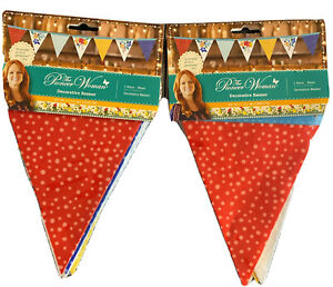 The Pioneer Woman Decorative Banner Floral Blue,Red, Yellow 60 In. Set Of 2
