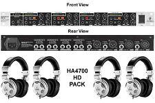 BEHRINGER HA4700 & HPX2000 HD Pack Headphones with Rackmount Amp