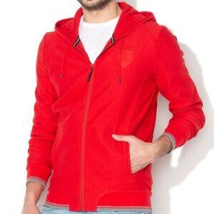 Men's Puma Ferrari Hoodie Sweatshirt Full Zip Long Sleeve Casual Medium