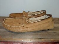 UGG Australia Men's Driving Mocs Style Slippers Loafers Tan Suede Leather Sz 10