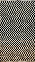 Zig-zag Design Gabbeh Chevron Hand-knotted Wool Area Rug Oriental Carpet 3x5 ft