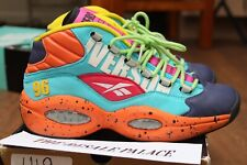 "Reebok Allen Iverson Question Mid ""Undefeated"" Size 7 Rare Teal/Red/Yellow/Multi"