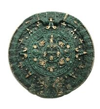 Aztec Mayan Gods Calendar Sunstone Plaque Wall Decor Mexico Art 7""
