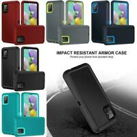 For Samsung Galaxy A51 5G Hybrid Heavy Duty Case Cover Holster Clip Fit Otterbox