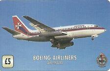 RARE / CARTE TELEPHONIQUE - AVION BOEING AIRLINERS AIR MALTA / PAPER PHONECARD