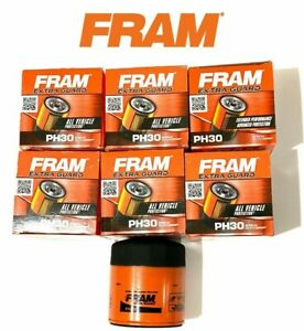 NEW LOT OF 6 Oil Filter PH30 FRAM Engine -Extra Guard Fits- Chevrolet, Pontiac