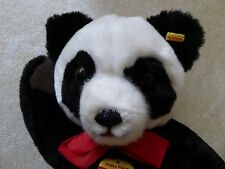 """Steiff 13"""" Petsy Panda 0240/35 with tags and button in ear"""