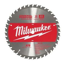 "Milwaukee 48-40-4174 10"" 40T General Purpose Wood Miter Saw Blade NEW"