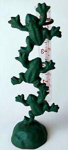 Cast Iron 3 Green Frogs Rain Gauge Acurite 5-in Gauge