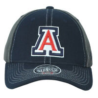 NCAA Zephyr Arizona Wildcats Navy-Gray Fitted Stretch X-Large Men Adults Hat Cap