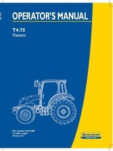 NEW HOLLAND T4.75 TRACTORS OPERATOR`S MANUAL
