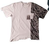 DIOR & RAYMOND PETTIBON Cotton Jersey T-Shirt Whim White Front Pocket $1,000 XL