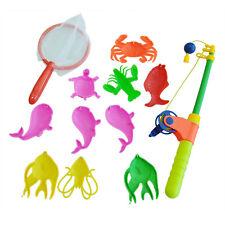 Magnetic Fishing Toy 10 Fish Kid Baby Bath Time Fun Game U3J9