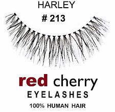 2x Red Cherry Echthaar falsche künstliche Wimpern schwarz #213