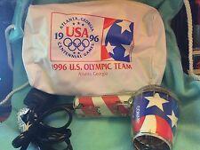 Atlanta 1996 Olympic Games Team Blow hair dryer in bag  RARE ITEM