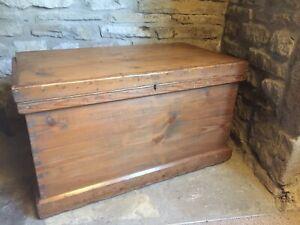 Antique Pine Blanket Tool Toy Work Box